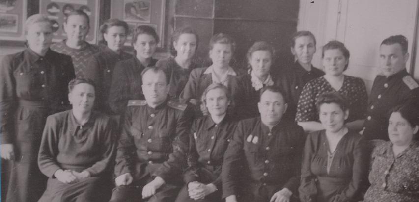 бухгалтерия и отдел труда станции Свердловск-сортировочный 1955 год
